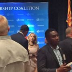 Me talking with Congressman Franks at the USGLC 2017